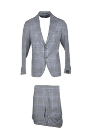 Checked Pure Wool Blend Single Breasted Suit