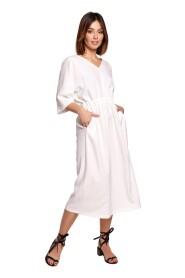 Sukienka midi z gumą w pasie