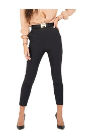 Cigarette smoking trousers with belt