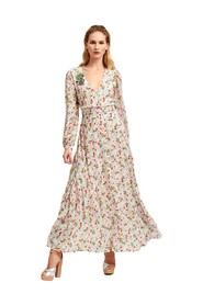 Maxi wrap dress with flowers Vemale