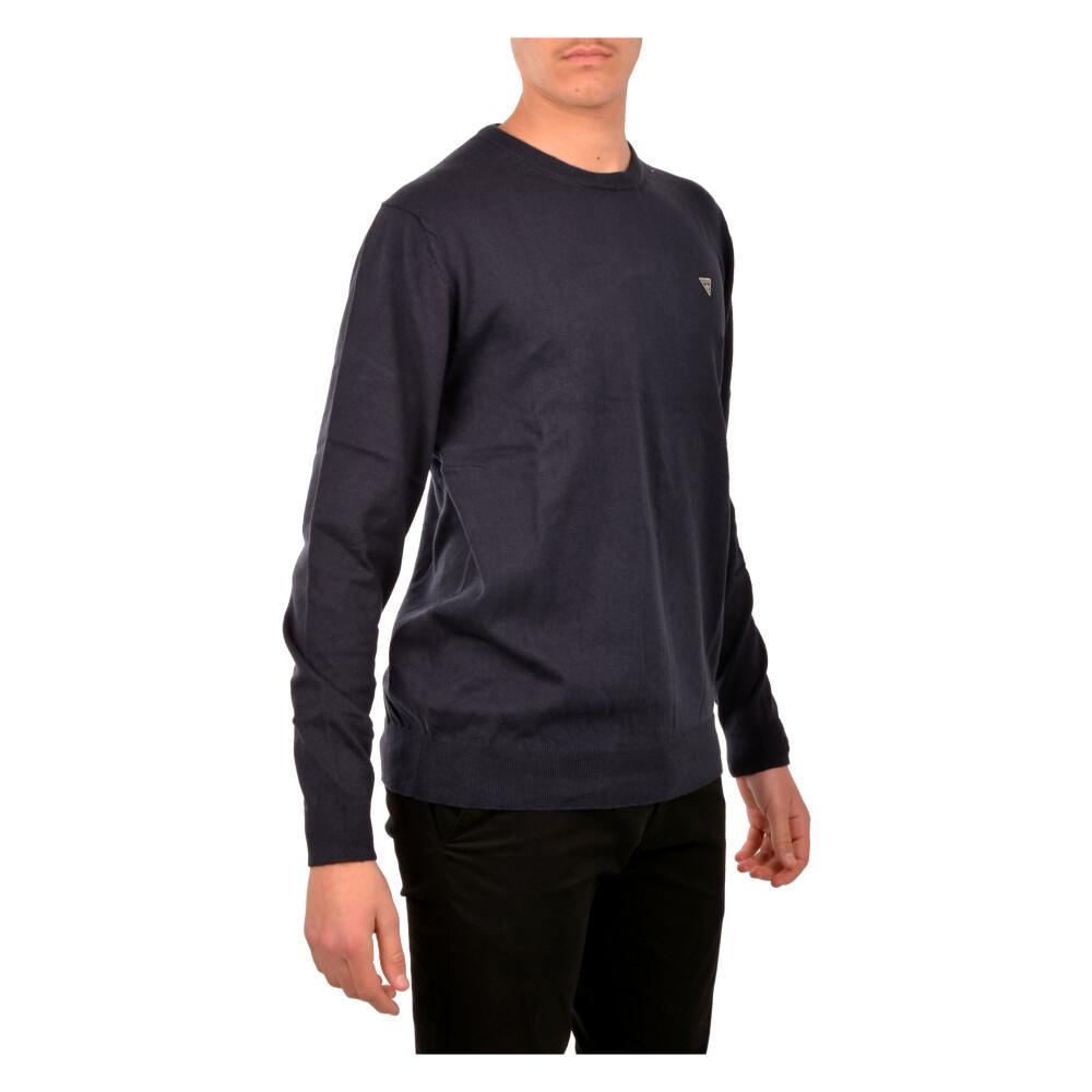 Blue Sweater | Guess | Bluzy bez kaptura - Najnowsza zniżka skQJa