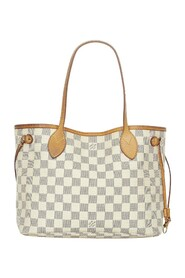 Pre-owned Damier Azur Neverfull PM Canvas