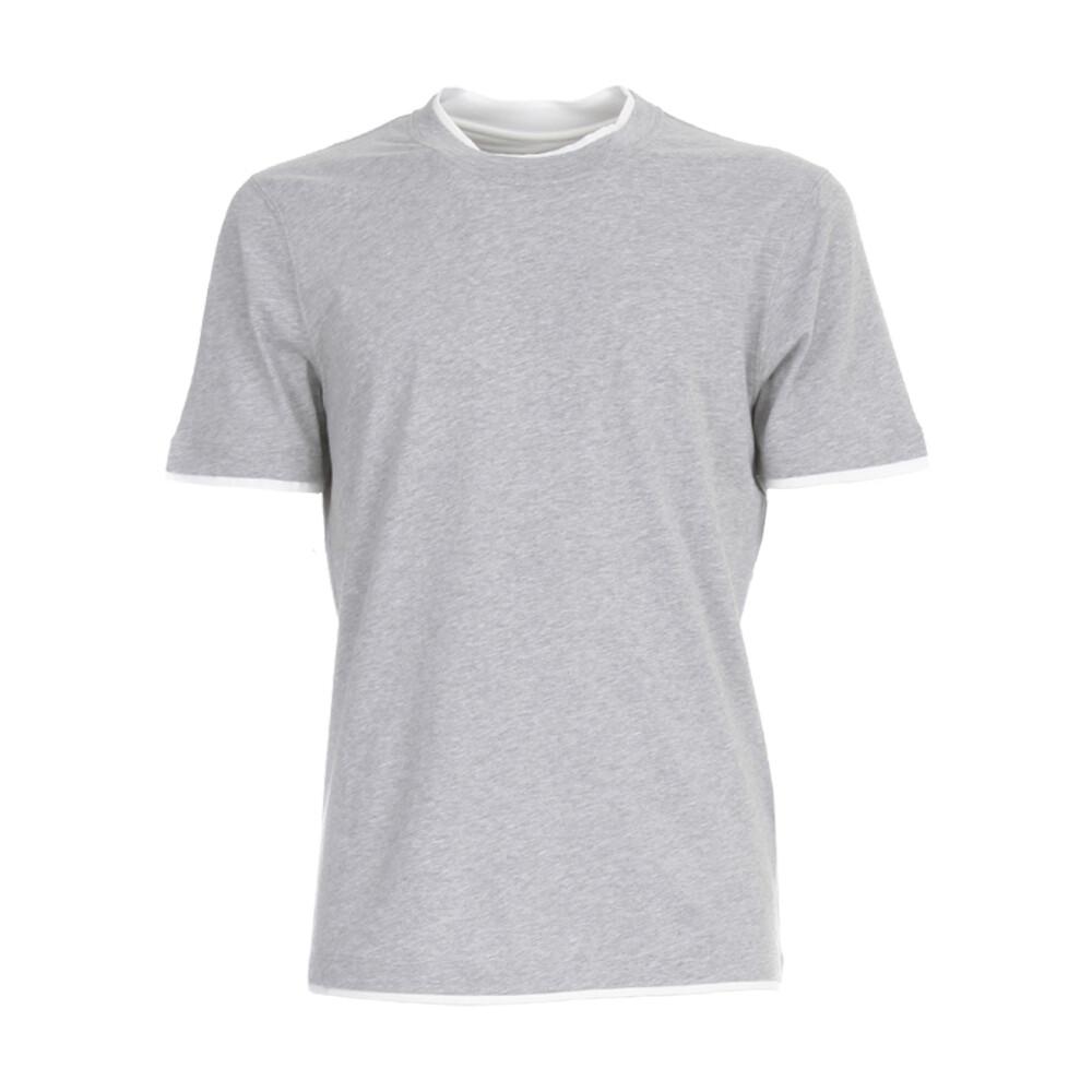 Katoenen T-Shirt MET Ronde Hals Brunello Cucinelli