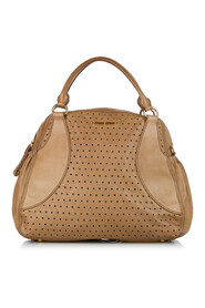 Perforated Leather Satchel