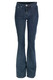 Hanna Rayure Denim Bukser