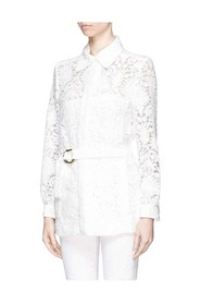 Guipure Embroidery Lace Shirt Coat