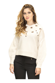 Pullover with Metal Eyelets