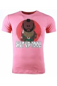 T-shirt - A-team Mr.T Shut Up Fool Print