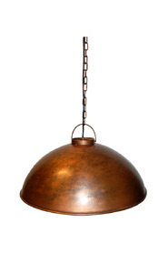 Factory-style ceiling pendant - copper