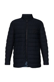 Jacket with high collar