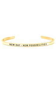 Armring med tekst - NEW DAY NEW POSSIBILITIES - 7345