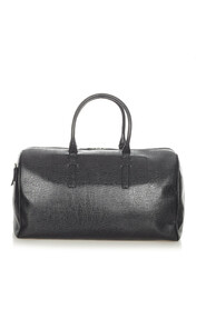 Pre-owned Leather Travel Bag