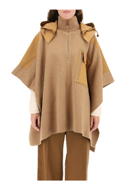 Hooded cape with cotton inserts