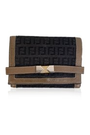 Pre-owned FF Monogram Canvas and Leather Wallet