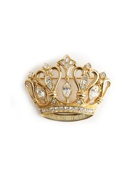 Antique crown brooche