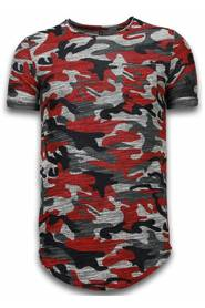Long Fit Camo Shirt Chest Pocket