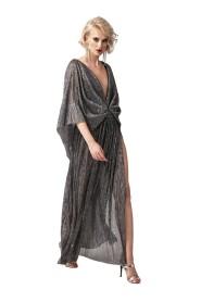 Suknia wieczorowa z regulowanym dekoltem