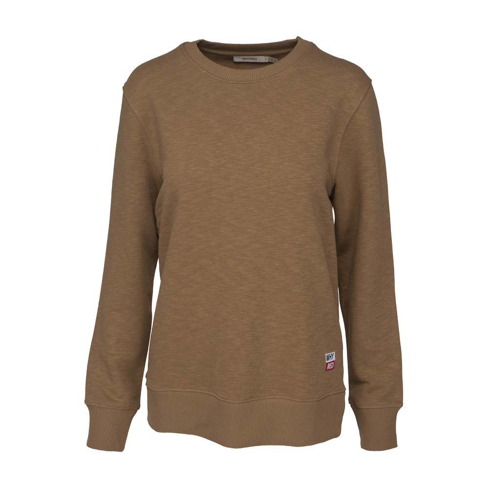 Whyred Collegetröja Murry Structure - Dark camel
