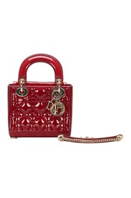 Cannage Lady Patent Leather Satchel