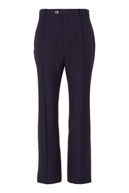 Elasticated wool trousers