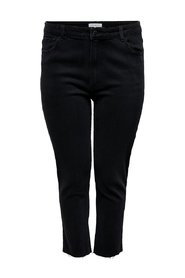 Straight fit jeans Curvy Carmily hw ankle raw