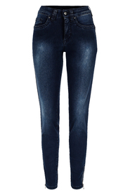 P1460B Terry, Tech stretch denim zip ankle