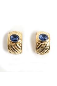 Begagnade Lapis Lazuli örhängen
