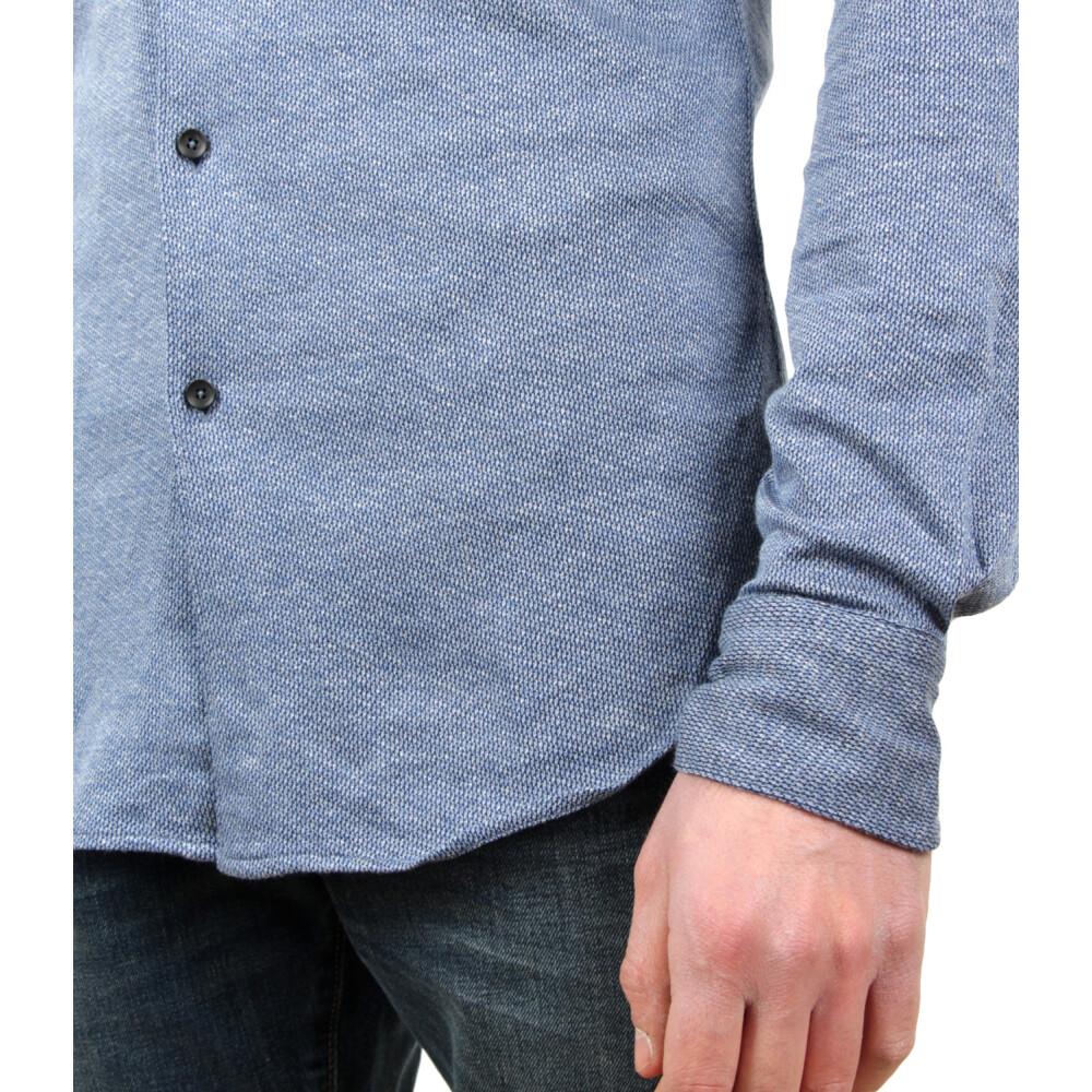 Blue SHIRT | Xacus | Koszule na co dzień - Najnowsza zniżka k4d6x