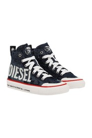 DIESEL BY0463 P3097 ASTICO SNEAKERS Unisex Woman and Boys DENIM DARK BLUE