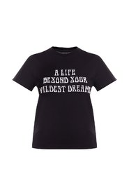 T-shirt with velour lettering
