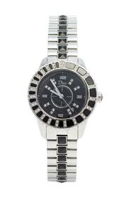 Pre-owned  Stainless Steel Diamonds Christal 113115M001 Wristwatch