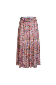 Flounced Skirt With Mille Fleurs Pattern - 34
