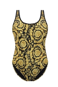 Patterned one-piece swimsuit