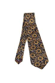 Pre-owned Printed Silk Traditional Tie