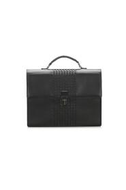 Intrecciato Leather Business Bag