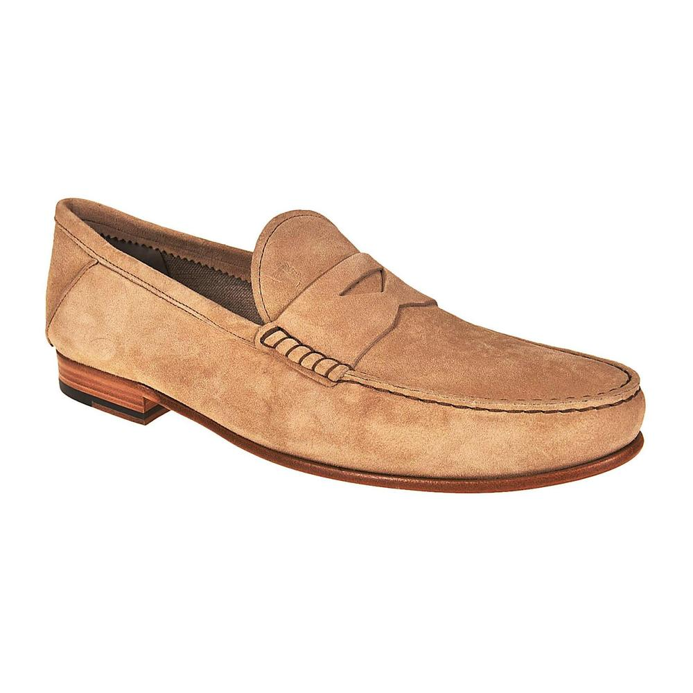 Tod's Beige Suede loafers with penny bar Tod's