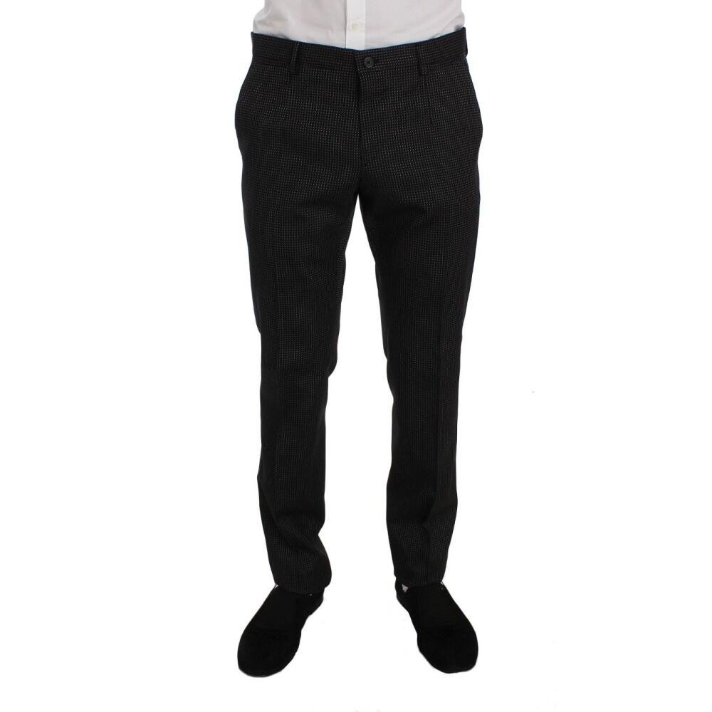 Grey Wool Silk Stretch Slim Fit 3 Piece Suit | Dolce & Gabbana | Garnitury całe - Najnowsza zniżka q2wpg