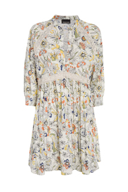 Printed Dress With Lace Inserts