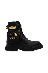 Ankle boots with logo