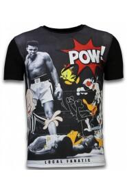 Ali vs Cartoons - Digital Rhinestone T-shirt