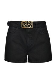 Brookyn Shorts with Logo Buckle