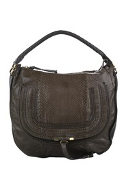 Marcie Python Leather Shoulder Bag