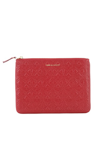 Pochette wallet red in cow leather