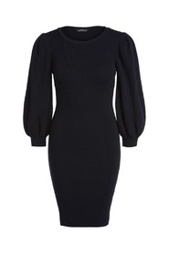Long Puff Sleeve Knitted Dress