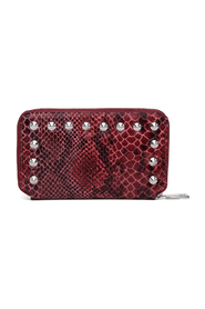 Shelly Red Snake Print Wallet