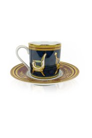 Porcelain Chair Design Coffee Cup and Saucer