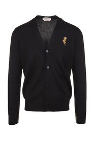 Cardigan With Gold Thistle Embroidery