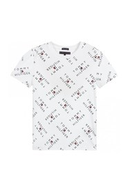 TOMMY HILFIGER KB0KB05747 TOMMY LOGO TEE T SHIRT AND TANK Unisex Boys WHITE