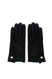 Leather gloves with buttons