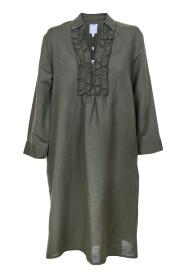 Kjole med fine detaljer og lang erm